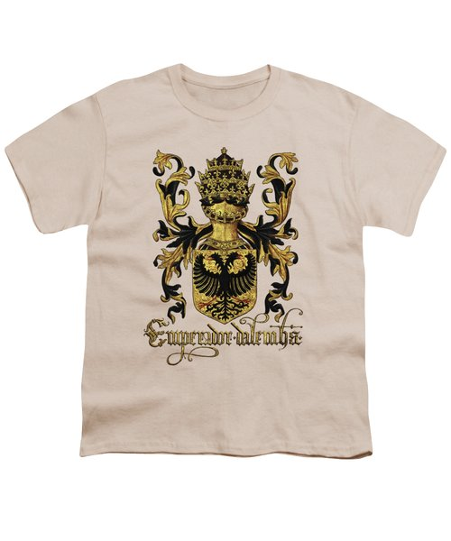 Emperor Of Germany Coat Of Arms - Livro Do Armeiro-mor Youth T-Shirt by Serge Averbukh