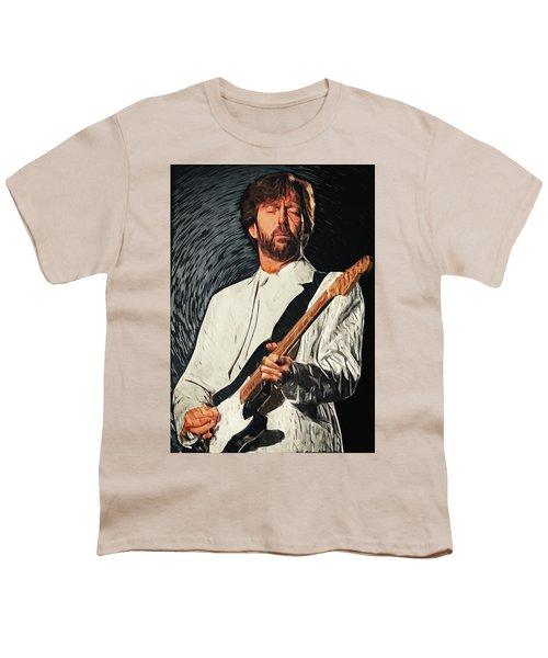Eric Clapton Youth T-Shirt by Taylan Apukovska