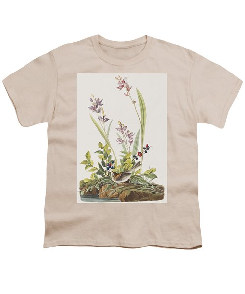 Field Sparrow Youth T-Shirt by John James Audubon