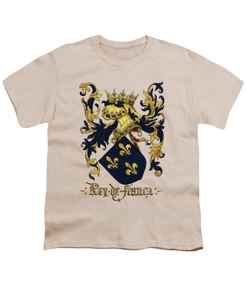 King Of France Coat Of Arms - Livro Do Armeiro-mor  Youth T-Shirt by Serge Averbukh