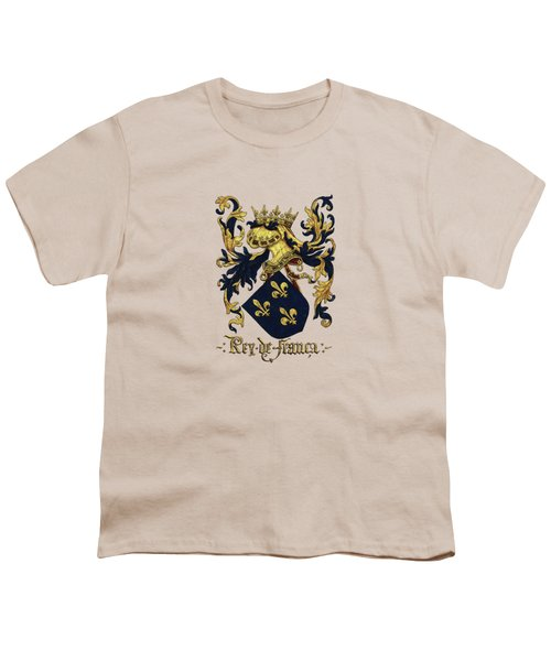 King Of France Coat Of Arms - Livro Do Armeiro-mor  Youth T-Shirt