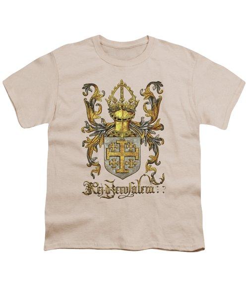Kingdom Of Jerusalem Coat Of Arms - Livro Do Armeiro-mor Youth T-Shirt
