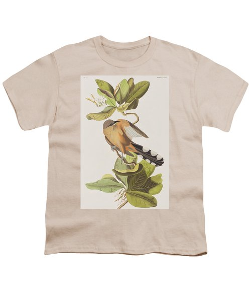 Mangrove Cuckoo Youth T-Shirt by John James Audubon