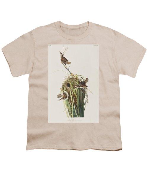 Marsh Wren  Youth T-Shirt by John James Audubon