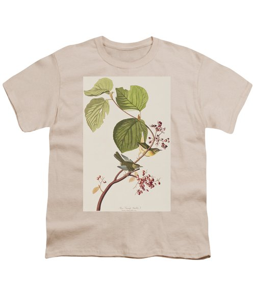 Pine Swamp Warbler Youth T-Shirt by John James Audubon