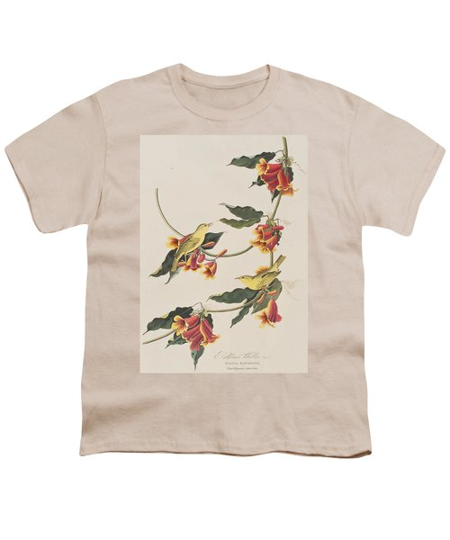 Rathbone Warbler Youth T-Shirt by John James Audubon