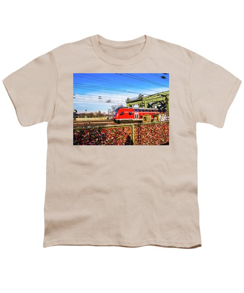 Red Train Youth T-Shirt by Cesar Vieira