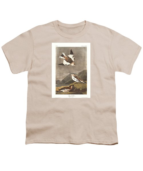 Snow Bunting Youth T-Shirt by Anton Oreshkin