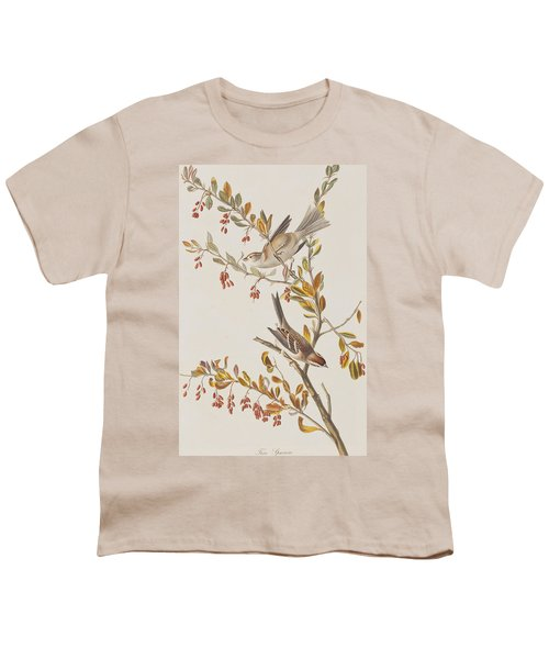 Tree Sparrow Youth T-Shirt by John James Audubon