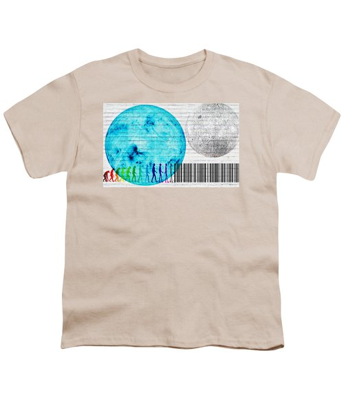 Urban Graffiti - Binary Evolution Youth T-Shirt by Serge Averbukh