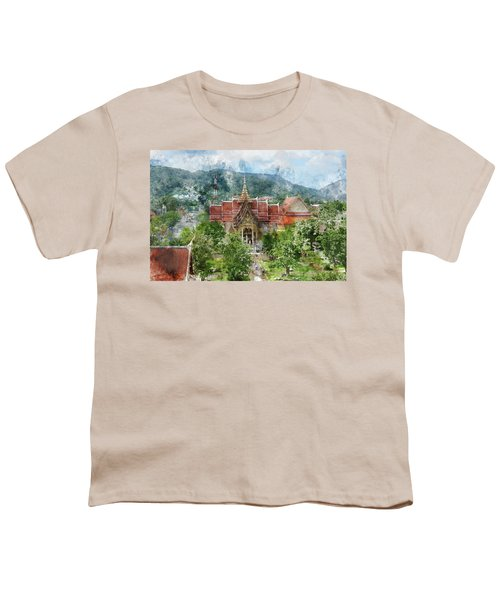 Wat Chalong In Phuket Thailand Youth T-Shirt