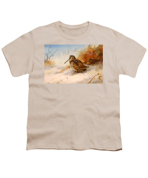 Winter Woodcock Youth T-Shirt by Mountain Dreams