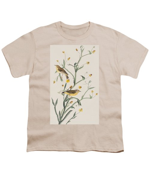 Yellow Red-poll Warbler Youth T-Shirt by John James Audubon