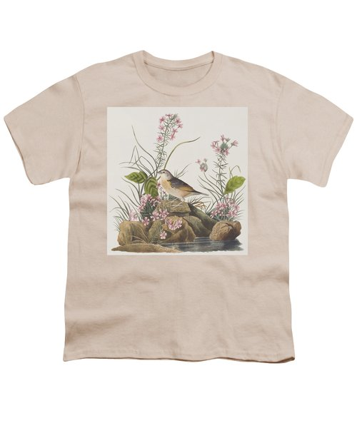 Yellow-winged Sparrow Youth T-Shirt by John James Audubon