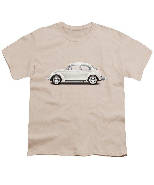 1966 Volkswagen 1300 Sedan - Pearl White Youth T-Shirt by Ed Jackson