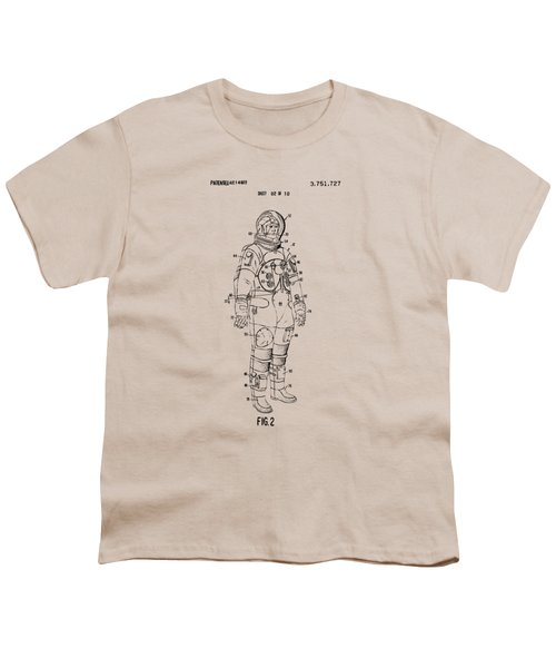 1973 Astronaut Space Suit Patent Artwork - Vintage Youth T-Shirt
