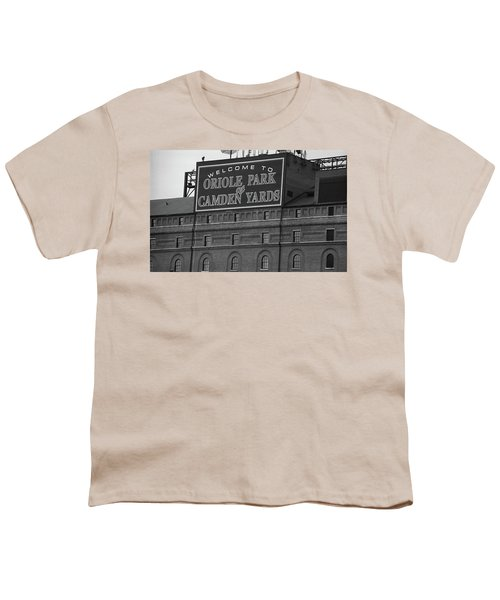 Baltimore Orioles Park At Camden Yards Bw Youth T-Shirt