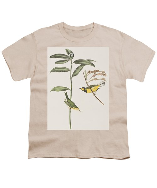 Hooded Warbler  Youth T-Shirt by John James Audubon