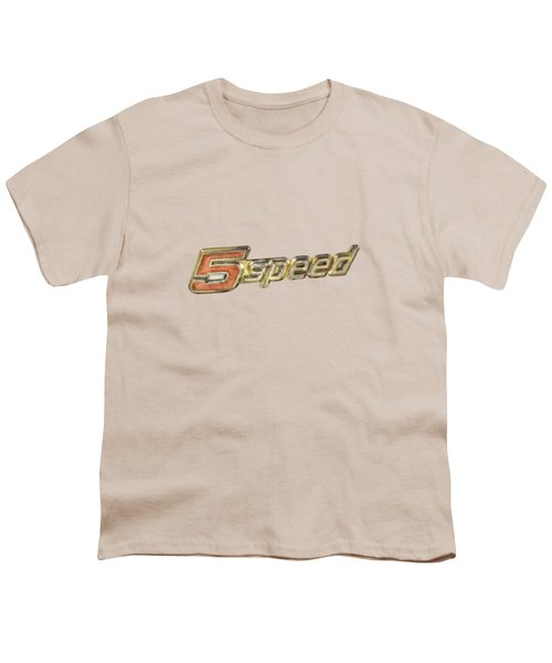 5 Speed Chrome Emblem Youth T-Shirt