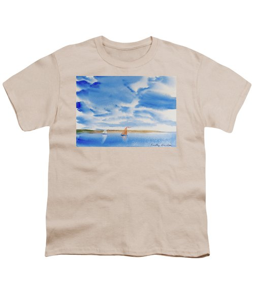 A Fine Sailing Breeze On The River Derwent Youth T-Shirt