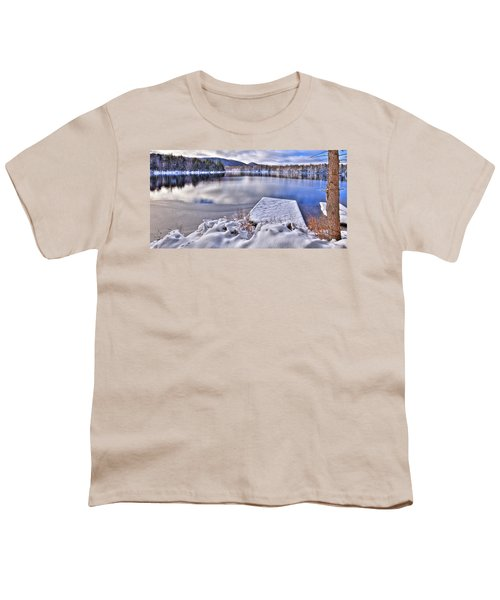 Youth T-Shirt featuring the photograph A Winter Day On West Lake by David Patterson