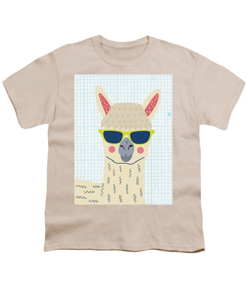 Alpaca Youth T-Shirt by Nicole Wilson
