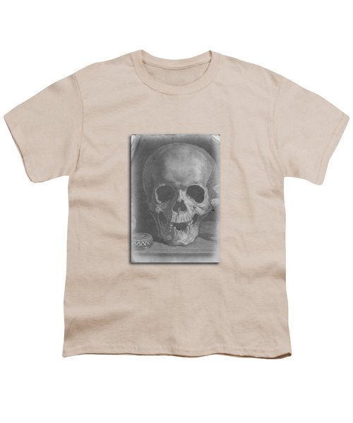 Ancient Skull Tee Youth T-Shirt by Edward Fielding