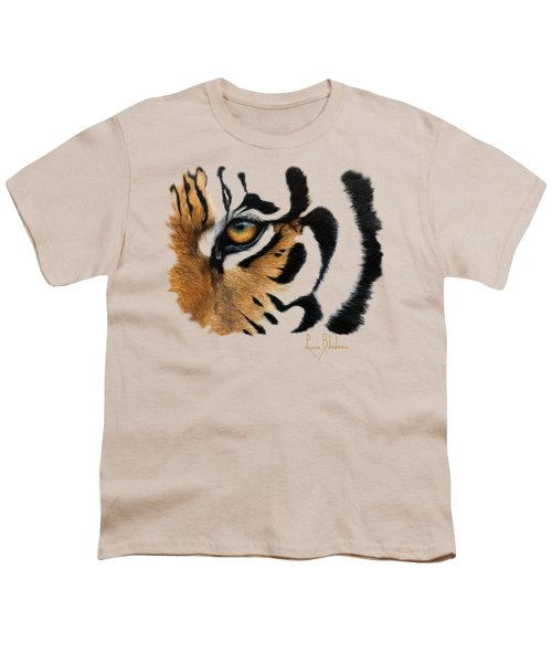 Tiger Eye Youth T-Shirt by Lucie Bilodeau