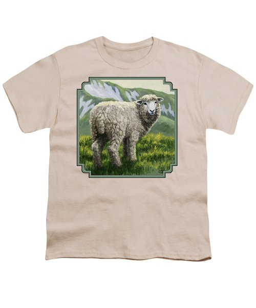 Highland Ewe Youth T-Shirt by Crista Forest