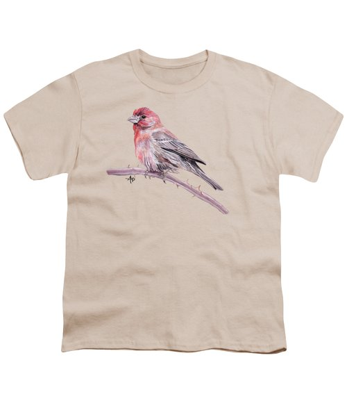 House Finch Youth T-Shirt by Angeles M Pomata