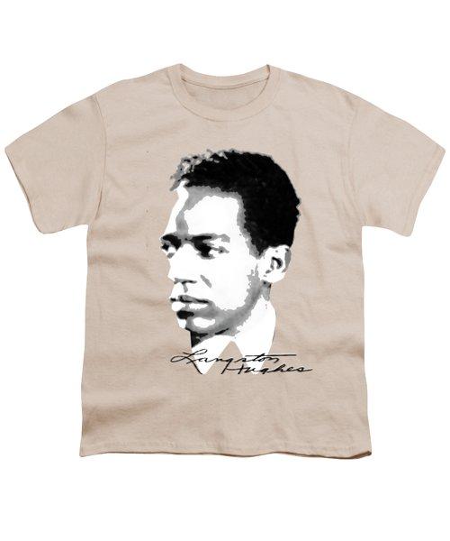 Langston Hughes Youth T-Shirt by Asok Mukhopadhyay