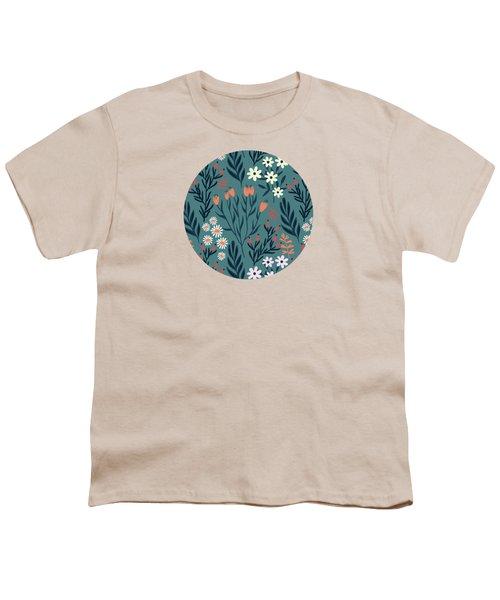 Beautiful Springtime Evening Garden Pattern Youth T-Shirt