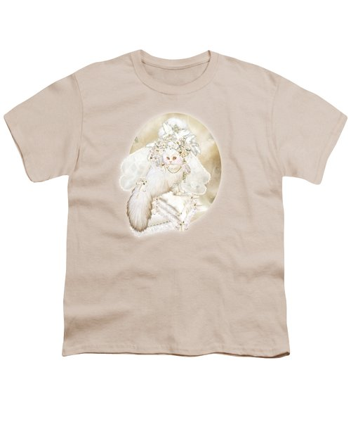 Cat In Fancy Bridal Hat Youth T-Shirt