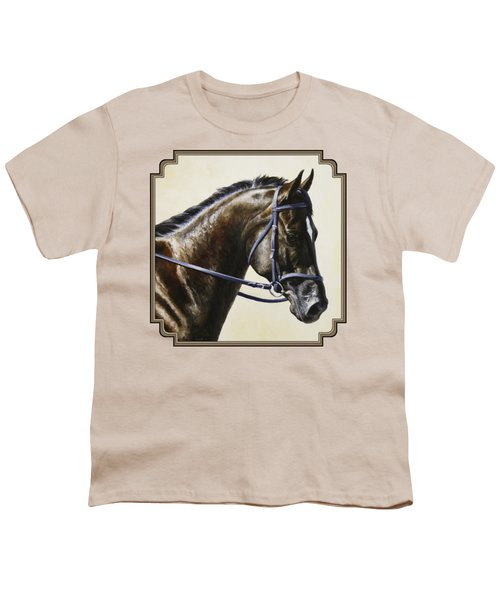 Dressage Horse - Concentration Youth T-Shirt by Crista Forest
