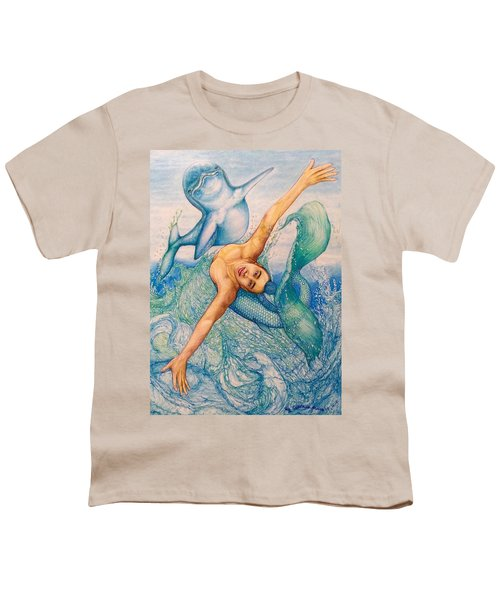 Astrology Zodiac Signs Pisces Youth T-Shirt by Kent Chua