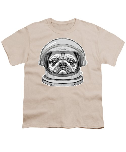 Astronault Pug Youth T-Shirt