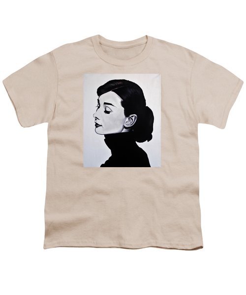 Audrey Hepburn 1 Youth T-Shirt by Brian Broadway