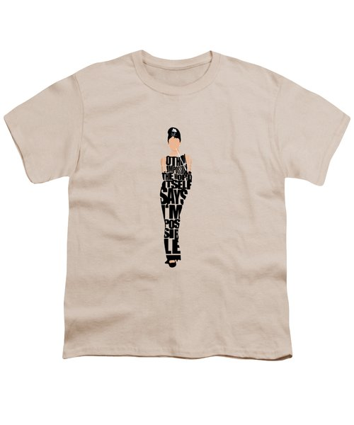 Audrey Hepburn Typography Poster Youth T-Shirt