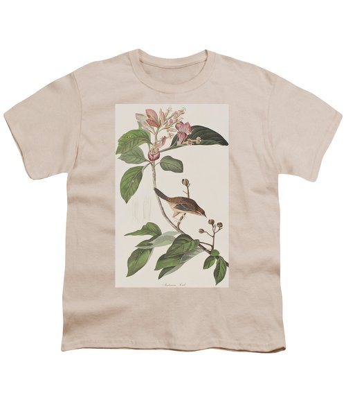 Bachmans Sparrow Youth T-Shirt by John James Audubon