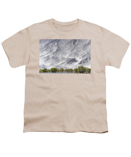 Backdrop Of Sand, Chumathang, 2006 Youth T-Shirt by Hitendra SINKAR