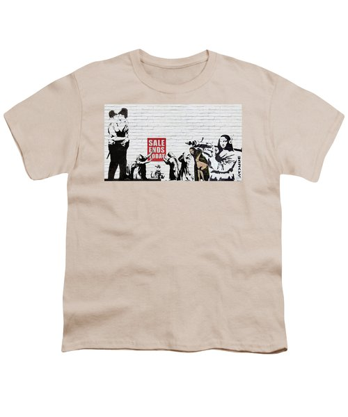 Banksy - Saints And Sinners   Youth T-Shirt by Serge Averbukh