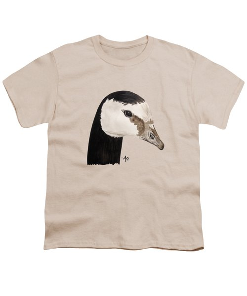 Barnacle Goose Portrait Youth T-Shirt by Angeles M Pomata