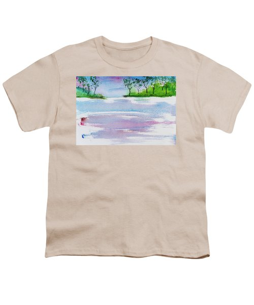 Gum Trees Frame The Sunset At Barnes Bay Youth T-Shirt