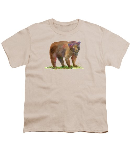 Bear Youth T-Shirt by Amy Kirkpatrick