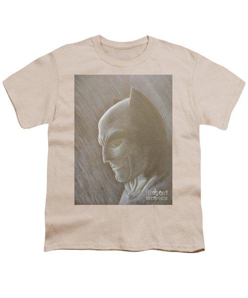 Ben As Batman Youth T-Shirt by Josetta Castner