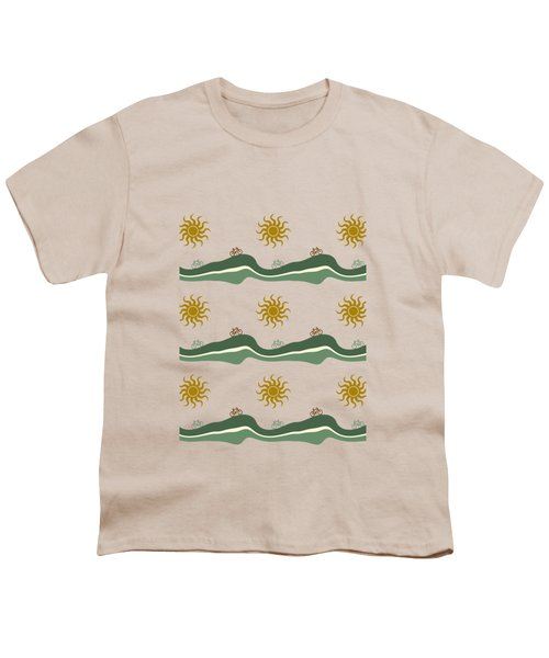 Bike Pattern Youth T-Shirt