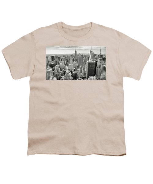 Youth T-Shirt featuring the photograph Black And White Skyline by MGL Meiklejohn Graphics Licensing