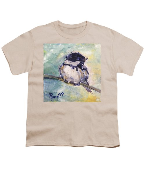 Black Capped Chickadee Youth T-Shirt