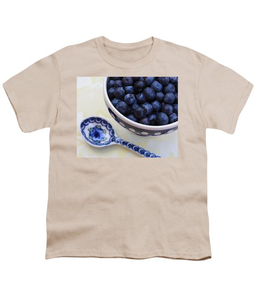 Blueberries And Spoon  Youth T-Shirt
