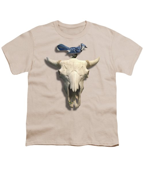 Bluejay And The Buffalo Skull Youth T-Shirt